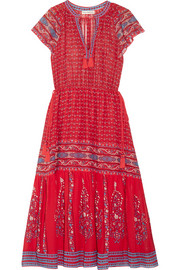 Ulla Johnson Neela tassel-trimmed printed silk-georgette dress