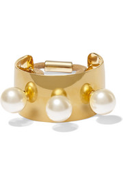 Jennifer Behr Gold-plated Swarovski pearl hair tie