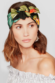 Rosie printed satin headband