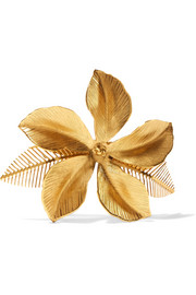 Hibiscus gold-plated hairclip