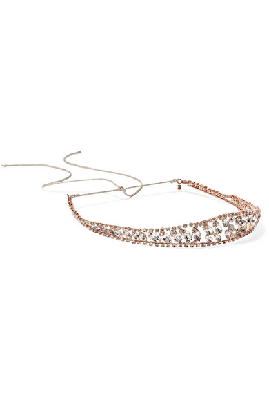Jennifer Behr - Raina Rose Gold-plated Swarovski Crystal Headband