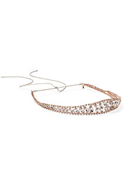 Raina rose gold-plated Swarovski crystal headband