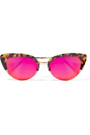 KREWE Josephine cat-eye acetate and gold-tone mirrored sunglasses