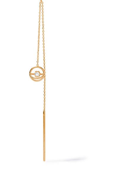 Sarah & Sebastian Foam Chain 14-karat Gold Diamond Earring AOn8B7PT