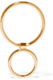 Two Bubble 14-karat gold earring