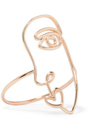 Face 14-karat gold ring