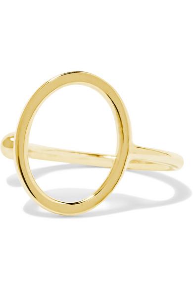 Sarah & Sebastian - Open Oval 9-karat Gold Ear Cuff