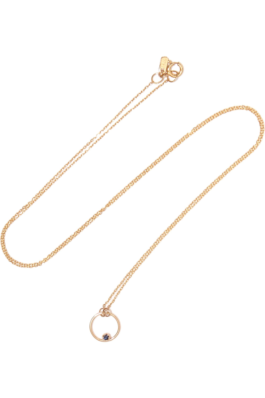 SARAH & SEBASTIAN Stone Bubble 14-karat gold sapphire necklace