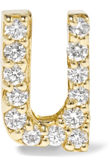 Alison Lou - U 14-karat Gold Diamond Earring