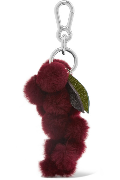 autumn cph female autumn cph stingraytrimmed shearling keychain purple