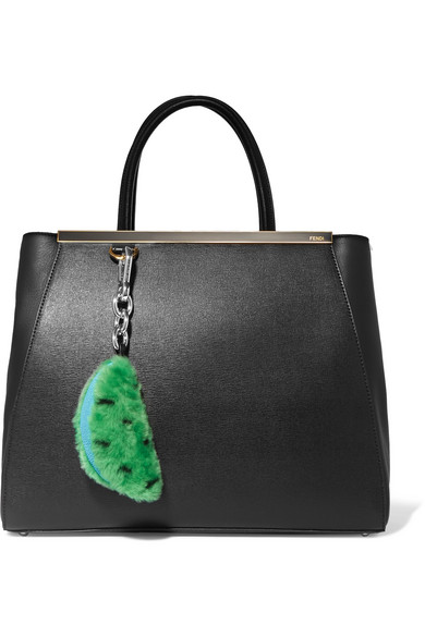 Autumn Cph Stingray And Leather-trimmed Shearling Keychain - Green HjUtijbdE
