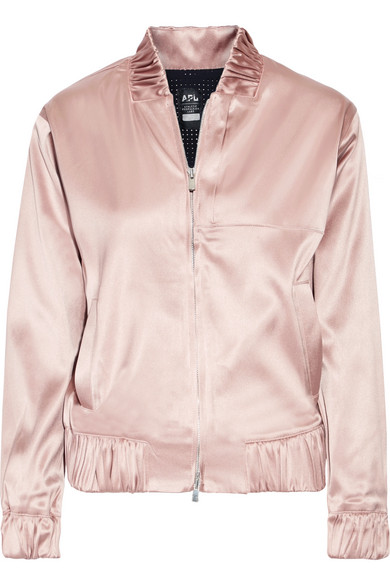 94b637d80 The Perfect stretch-satin bomber jacket