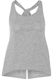 Split-back cotton-blend tank