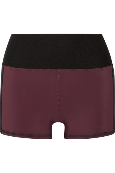 Athletic Propulsion Labs - Perforated Stretch Shorts - Merlot