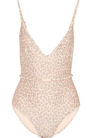 Zimmermann - Belted Leopard-print Swimsuit - Leopard print
