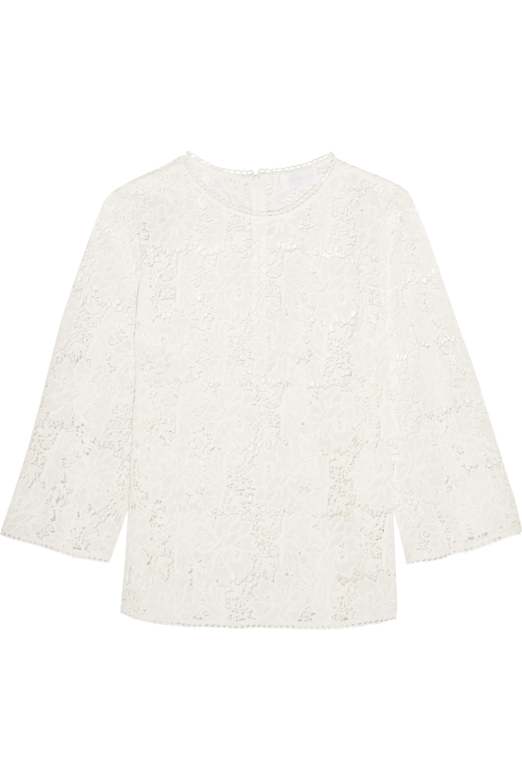 Zimmermann Aerial guipure cotton-lace top