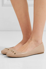 MICHAEL Michael Kors Valencia studded leather ballet flats