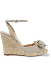 MICHAEL Michael Kors Willa suede espadrille wedge sandals