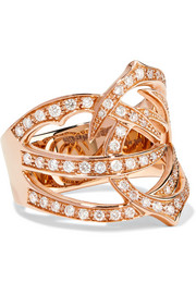 Thorn 18-karat rose gold diamond ring
