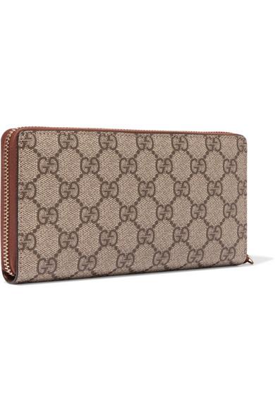 7f4ab67a2d17fc Gucci | Coated-canvas continental wallet | NET-A-PORTER.COM
