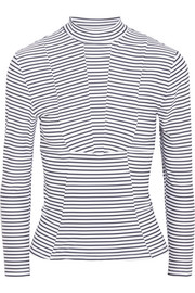 Striped rash guard