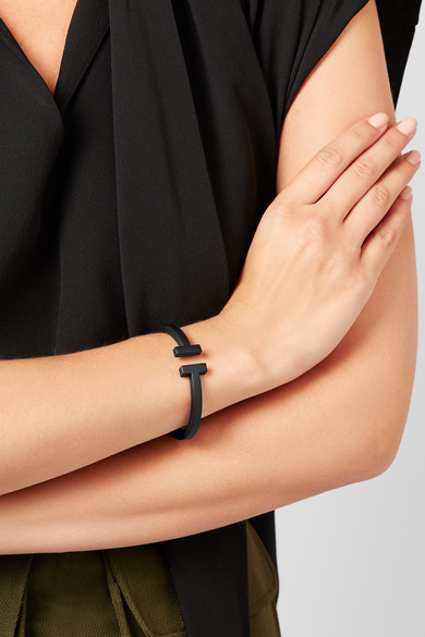 8ca2c0a400 Tiffany & Co.   T Square coated steel bracelet   NET-A-PORTER.COM