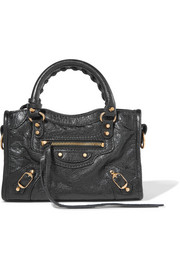 Balenciaga Classic City nano texured-leather shoulder bag