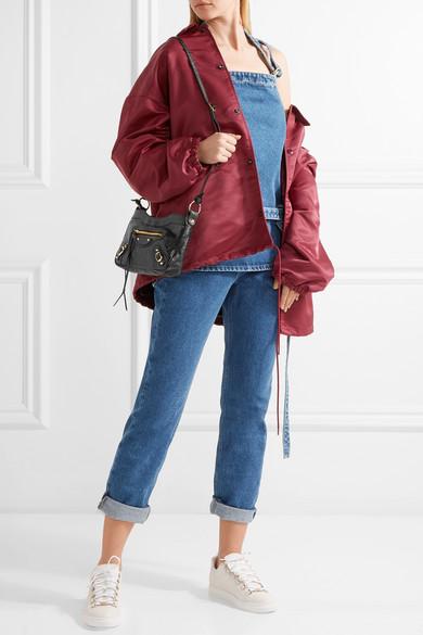 97f080a5cf Balenciaga | Classic Hip Arena textured-leather shoulder bag | NET-A ...