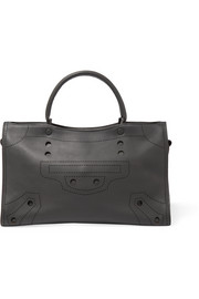 Balenciaga Blackout City perforated matte-leather tote