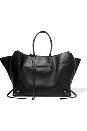 Balenciaga Paper ZA textured-leather tote