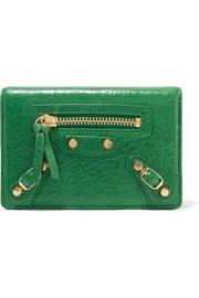 Balenciaga Classic textured-leather cardholder