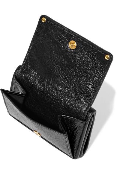 0ea2c0ad10e3 Balenciaga. Classic mini textured-leather wallet.  345. Zoom In