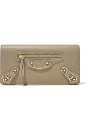Balenciaga Classic Metallic Edge textured-leather wallet