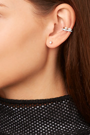 18-karat white gold diamond ear cuff