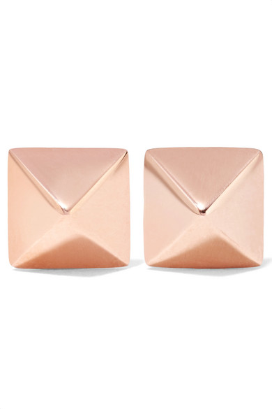 Anita Ko - Spike 14-karat Rose Gold Earrings - one size