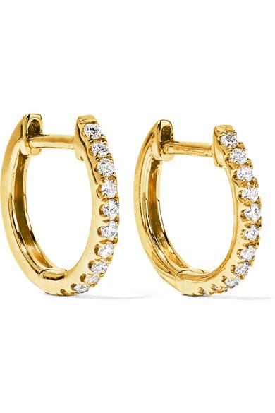 Anita Ko - Huggy 18-karat Gold Diamond Earrings