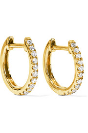Anita Ko Huggy 18-karat gold diamond earrings