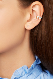 18-karat rose gold diamond ear cuff