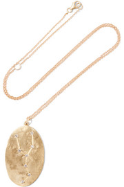 Brooke Gregson Taurus 14-karat gold diamond necklace