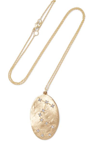 Brooke Gregson Scorpio 14-karat Gold Diamond Necklace di8dFIi