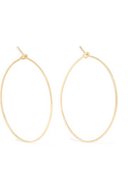 Brooke Gregson Hammered 18-karat gold earrings