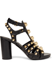 Balenciaga Giant studded textured-leather sandals
