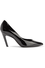 Balenciaga Slash patent-leather pumps