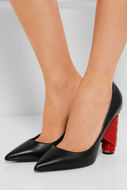Bistrot leather pumps