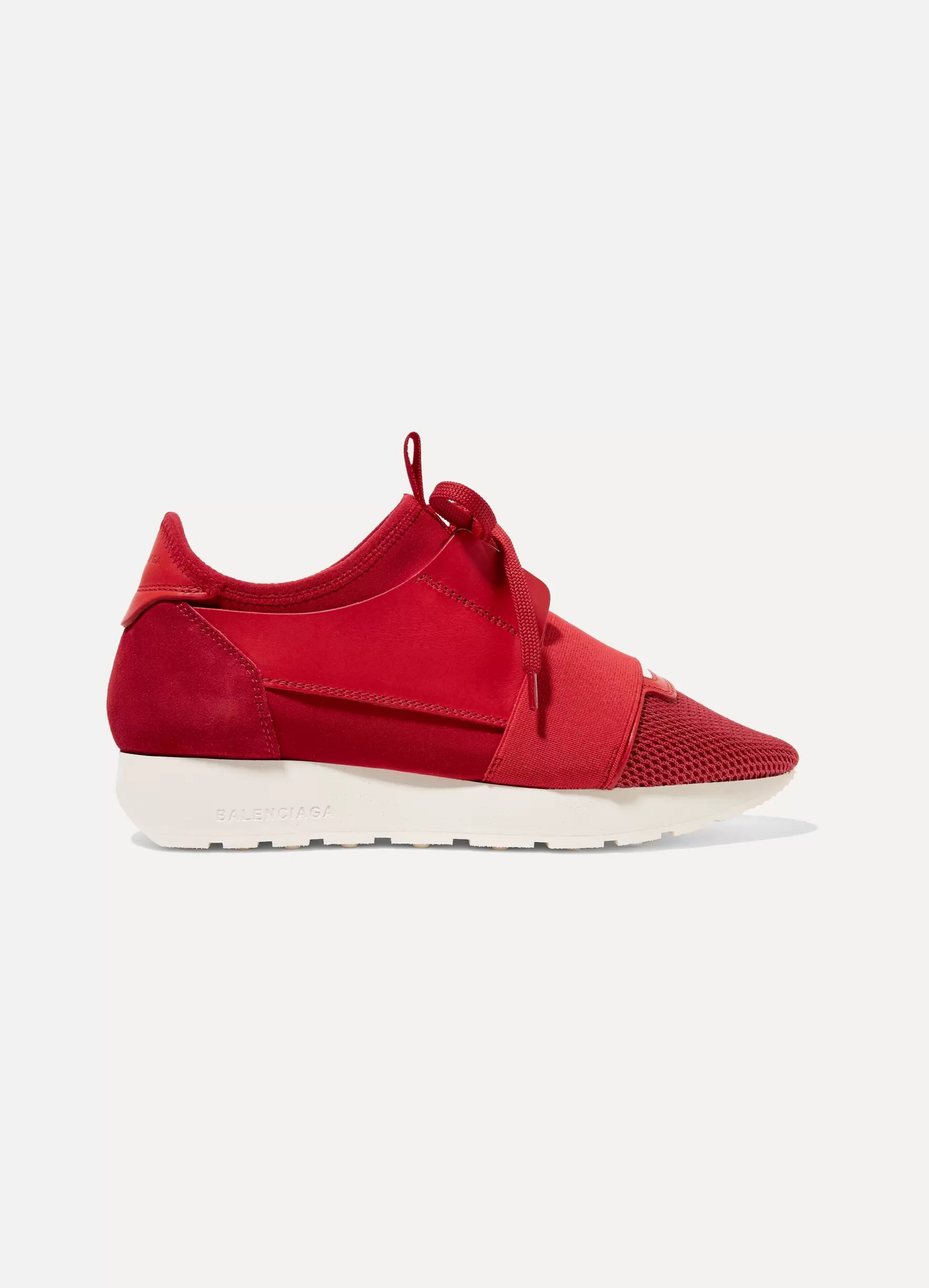 Balenciaga Race Runner leather, mesh, neoprene and suede sneakers