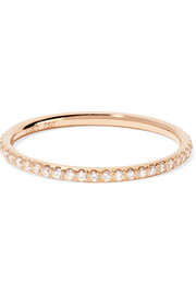 Ileana Makri Thread 18-karat rose gold diamond eternity ring