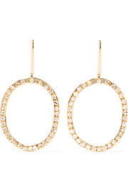 Ileana Makri Mini Again 18-karat gold diamond earrings