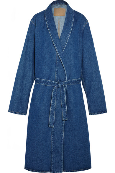 Balenciaga | Belted denim coat | NET-A-PORTER.COM