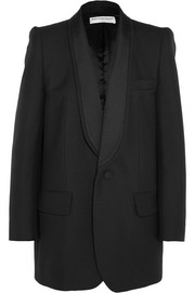 Balenciaga Epaule Couture wool and mohair-blend tuxedo blazer