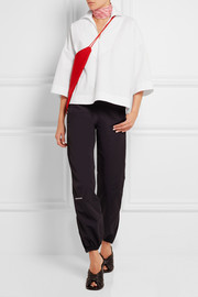 Sailor oversized cotton-poplin top
